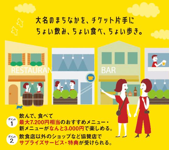 飲食店はしごイベント「大名フェス」開催!!の画像